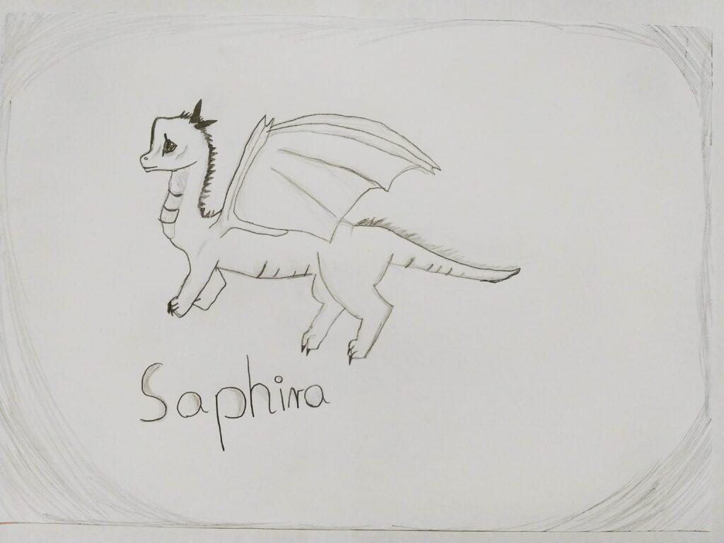 Kimberly Wozna Saphira z ksiazki Eragon