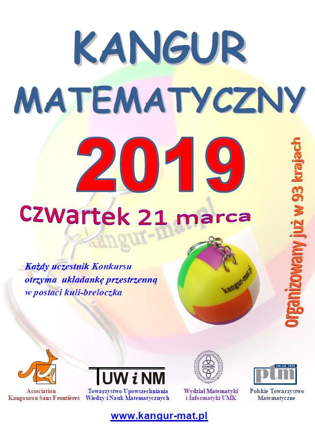 KANGUR MATEMATYCZNY 2019